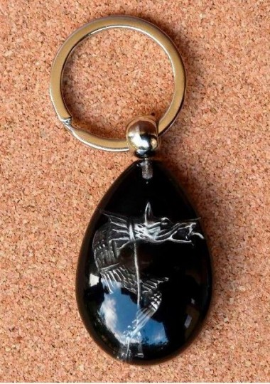 Breloc Dracon - negru