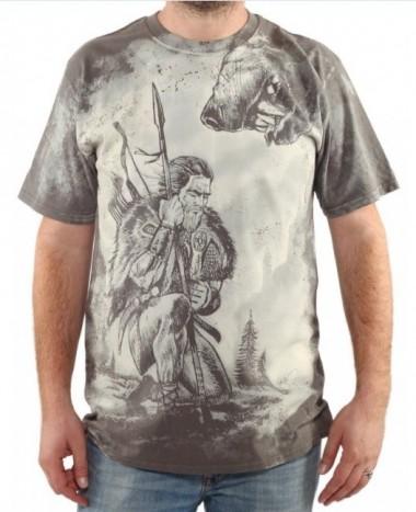 Tricou Războinic Dac, gri