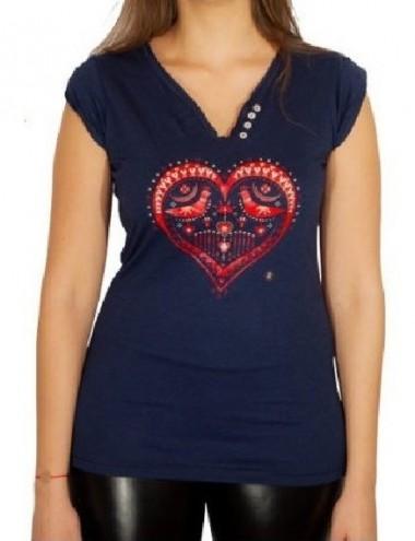 Tricou Inimă cu Păsări