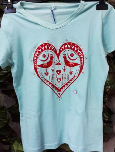 Tricou Inimă si Păsări, pt...