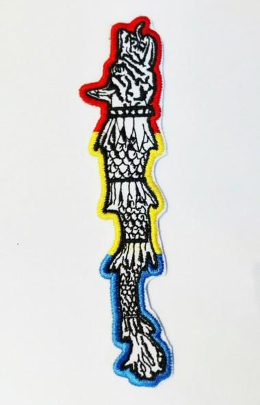 Emblemă brodată Draconul Dacic